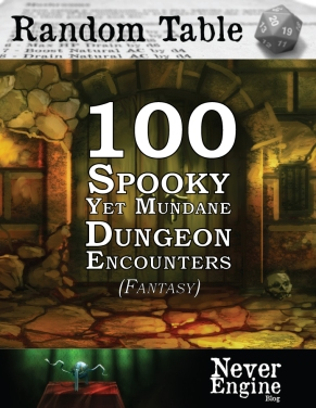 100-Spooky-Yet-Mundane-Dungeon-Encounters-(Fantasy)-Cover